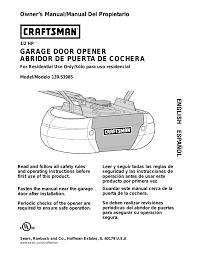 craftsman garage door opener manual craftsman 13953985 user manual 76 pages