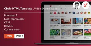 website template video circle video sharing website html template by azyrusmax themeforest