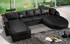 Modern leather sectional sofas Oversized List Price 399500 Contemporary Plan Ultra Modern Black Italian Leather Sectional Sofa Cp2211bk