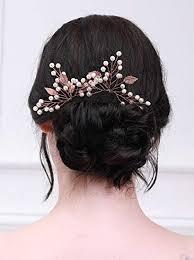 Kercisbeauty Feuille Dor Rose épingles à Cheveux Mariage
