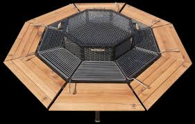 fresh bbq fire pit table a dining table firepit and grill in one homes and hues