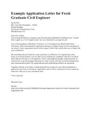 Sample Application Letter For Fresh Graduate Civil Engineer
