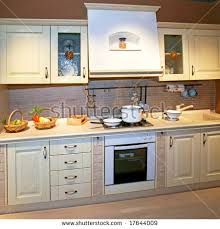 kitchen counter with food. Vintage Style Kitchen Counter With Food Preparation T