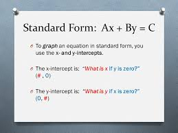 graph linear systems written in standard form ppt