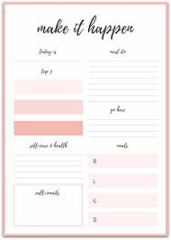 Downloadable Daily Planner Mesmerizing Free Printable Goal Sheets POPSUGAR Smart Living