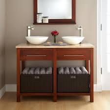 wood bathroom vanity double sinks