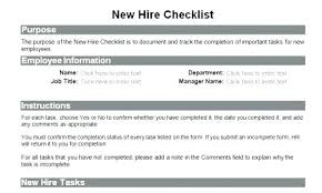 New Hire It Checklist Quick Preview New Hire Paperwork Email Template Checklist