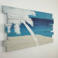 beach decor palm tree on sky sea and sand tropical wall hanging 24 l x 43 w nautical decor coastal decor beach house tropical on outdoor beachy wall art with best 200 beach living images on pinterest beach houses beaches