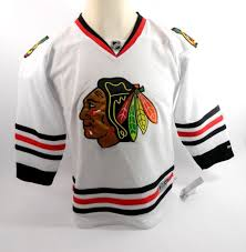 Chicago Blackhawks Blank White Nhl Youth Reebok Away Replica Jersey Size S M