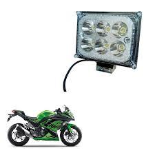 Led Lights For Ninja 250r Kandid Metal 6 Led Fog Light Fog Lamp Bike Led Lights Anti