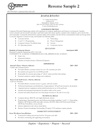 Sample Resume For Internship In Computer Science Itacams