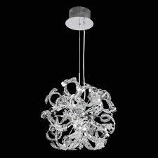 endon twist crystal range 9 light pendant