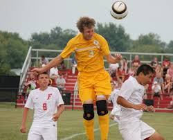 Adam Kupferberg of Turpin heads the ball shortly before scoring for Turpin.  | Sports, Soccer, Ball