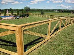 fence ideas for dogs. Brilliant Ideas Metal Wire And Wood Post Dog Fence Ideas For Dogs I