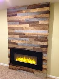 Fireplace Ideas Diy Using Reclaimed Wood And Pallets With A Modern Electric Fireplace
