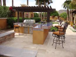 Exterior  Captivating Covered Outdoor Kitchen Patio Design Using - Outdoor kitchen designs with pool