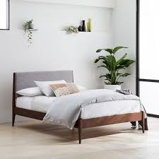 image modern wood bedroom furniture. Modern Show Wood Bed - Pumice (Yarn-Dyed Linen Weave) Image Bedroom Furniture