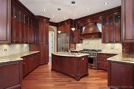 Small Picture Traditional Dark Wood Cherry Kitchen Cabinets Style Pinterest