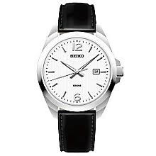 men s seiko watches h samuel seiko gent s black strap watch product number 5427924