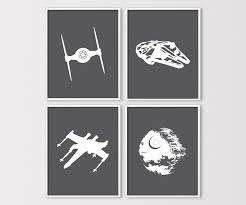 >star wars wall art star wars prints star wars nursery  zoom