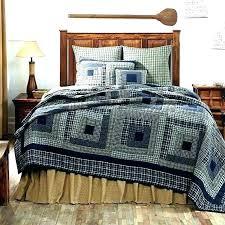 cabin quilt sets lodge quilts rustic cabin quilts twin quilt set navy blue tan primitive log cabin quilt sets