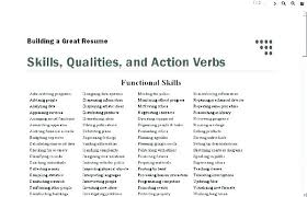 Functional Words List Phrases To Use On A Resume Joefitnessstore Com