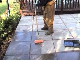 patio sealer application for protection against frost and staining with an acrylic sealerm4v how to seal concrete patio o19