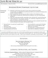 Sample Resume For Registered Nurse Ed Nurse Sample Resume Sample