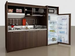 Kitchen, Cool All In One Kitchen Unit Compact Kitchens For Small Spaces  Brown: interesting ...