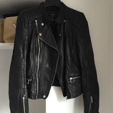 zara trafaluc perfecto leather jacket 100 anna belle depop