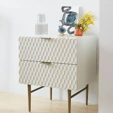 bed side furniture. Audrey Bedside Table - Parchment Bed Side Furniture B