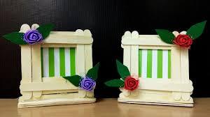 easy photo frame with icecream stick home decor ideas diy popsicle sticks making