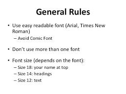 Resume On Computer Resume Format Font Standard Resume Font Size
