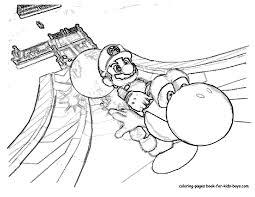 Super Mario Bros 197 Jeux Vid Os Coloriages Imprimer