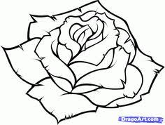 Small Picture how to draw a rose How to Draw a Realistic Rose Draw Real Rose
