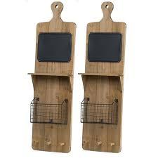 brown wood inch x wall shelf 10 metal brackets