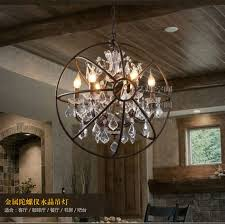 foucault s orb crystal chandelier antique rust globe pendant lamp creative peaceful 11