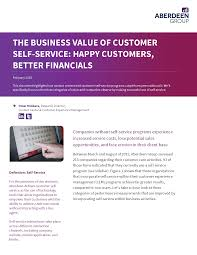 Customer Service Experience Definition The Business Value Of Customer Self Service Coveo