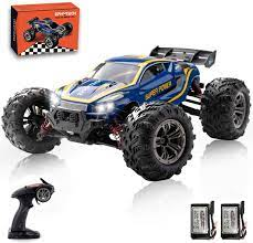 Amazon.com: EPHYTECH 2.4Ghz 4WD Remote Control Car, 1:16 High Speed 40km/h  RC Racing Car, Radio Controlled Off-Road Toy Cars with 2 Rechargeable  Batteries for Boys & Girls,Best Gift for Kids(Blue): Toys &