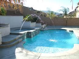 custom pool and spa with laminars