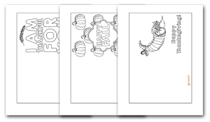 Printable Thanksgiving Cards Free Thanksgiving Cards To Color I Should Be Mopping The Floor