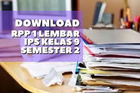 Lkpd ips smp kelas 9 semester gasal. Download Rpp 1 Lembar Ips Kelas 9 Semester 2 Revisi 2020 Lengkap