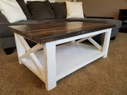 Furniture: White Rustic Coffee Table Elegant Ana White Rustic X Coffee Table  Diy Projects -
