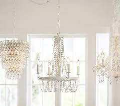 pottery barn amelia wood bead chandelier