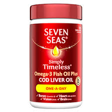 seven seas simply timeless conns a natural source fish oil with cod liver