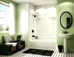 bathtub shower combo faucet one piece ideas design curtain bath tile corner bathrooms agreeable c