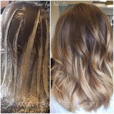 balayage hair painting on mid length hair balayage in denver balayage specialist in denver