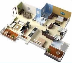 denah rumah 1 lantai dengan 3 kamar tidur: 30 denah rumah minimalis 3 kamar tidur 3d tiga dimensi