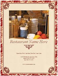Free Catering Menu Templates For Microsoft Word Restaurant Menu Template 8 Free Restaurant Menus