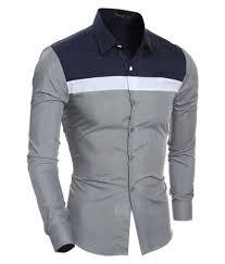 Designer Shirts For Men Stitching Casual Fashion Slim Washed Designer Shirts For Men